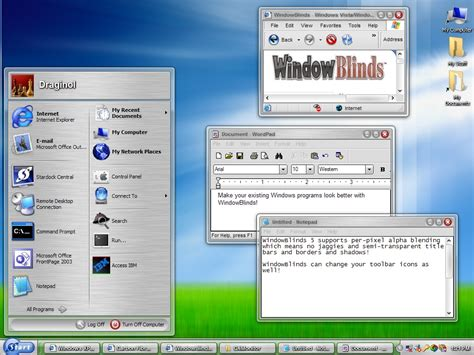 windowblinds theme windows interface sreenshot windowblinds 5 5 5 skins skinning stardock