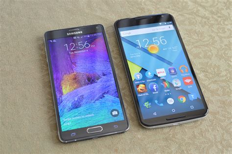 android note 4 nexus 6 vs samsung galaxy note 4