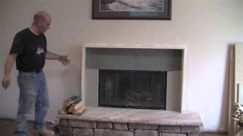 How to make a fireplace mantel and surround   YouTube