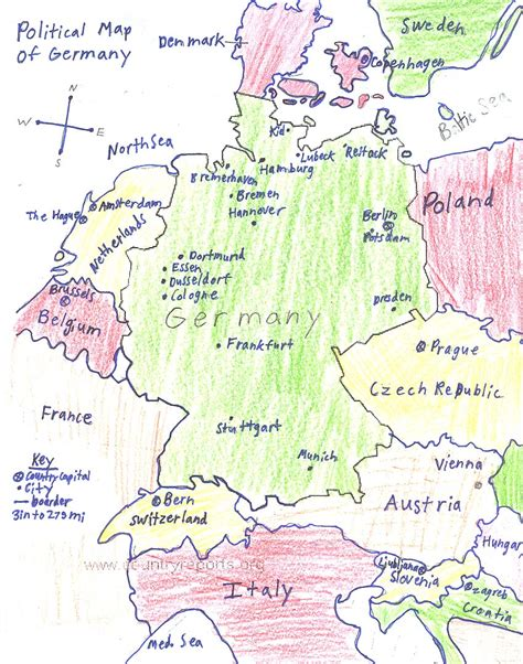germany map political ljhsobonk political map of germany
