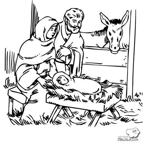 imagenes en blanco y negro del nacimiento de jesus pesebre nacimiento de jes 250 s dibujalia dibujos para