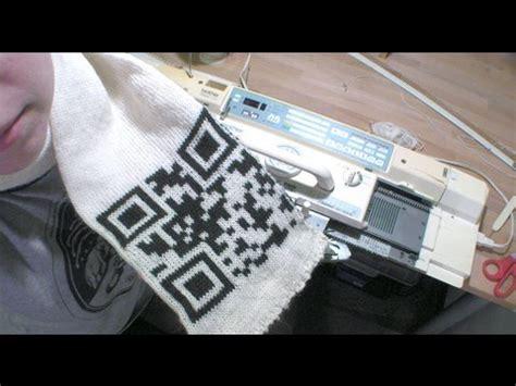 knitting codes craft machine knitted qr code scarf