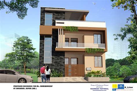 front elevations of indian economy houses duplex house front elevation and search on pinterest