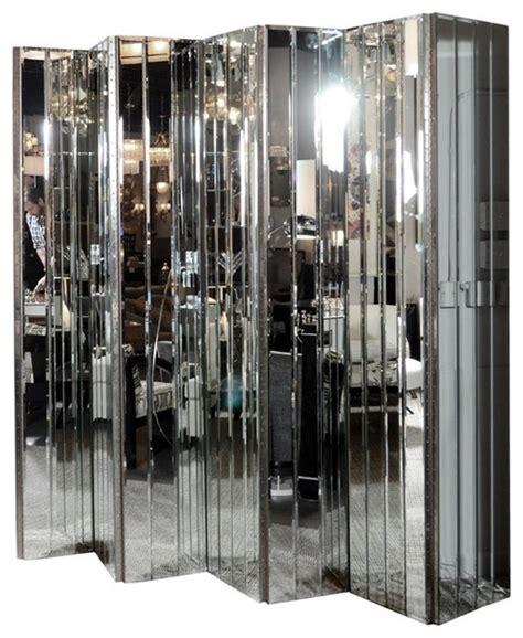 mirror room divider screen ultra chic modernist 6 paneled mirrored screen modern