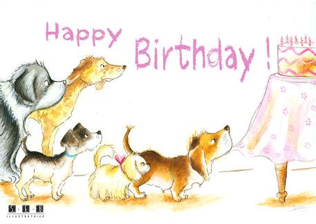 happy birthday pictures with dogs quot happy birthday quot graphic illustration prints and posters by emmanuelle burg