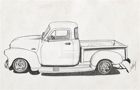 old cars drawings cartoon 1954 chevy truck google search vehicles