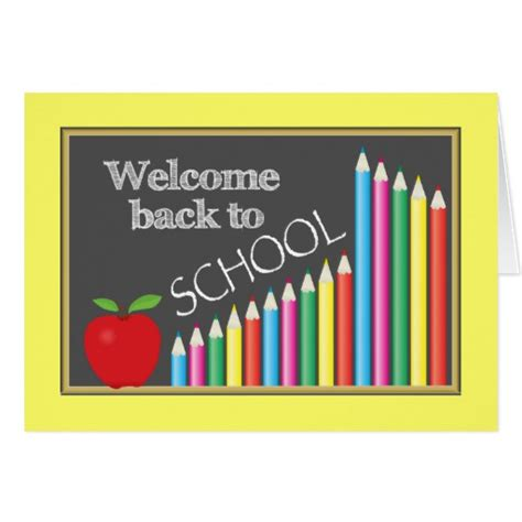 cards at school colourful welcome back to school zazzle