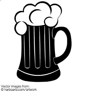 mug design template in vector download black beer mug vector graphic
