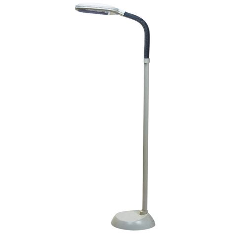 dimmable floor l home depot tensor 55 in white fluorescent floor l with dimming