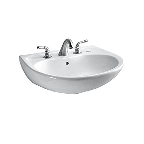 toto wall mount sink toto prominence 26 in wall mount bathroom sink with 8 in