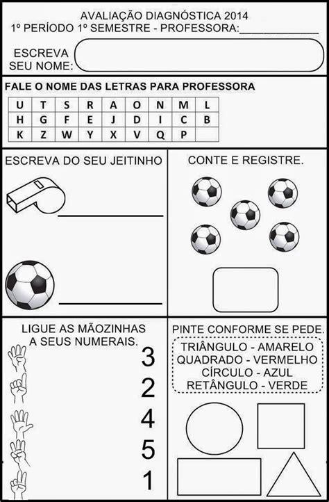 """AVALIAÇÃO DIAGNÓSTICA 1º PERÍODO - 4 ANOS   """"Pesquisa Escolar"""""""
