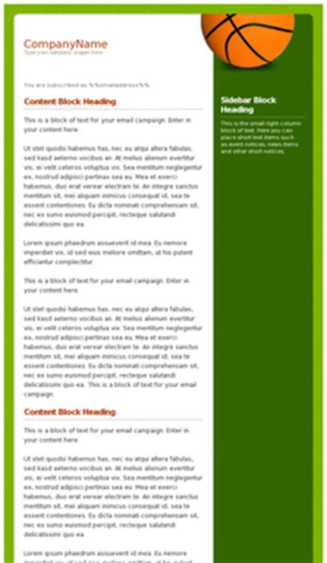 Email Newsletter Templates Mobile Friendly Exles Pinpointe Mobile Newsletter Template