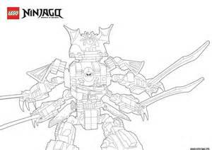coloriage cyren ninjago dans un samurai monstre dessin