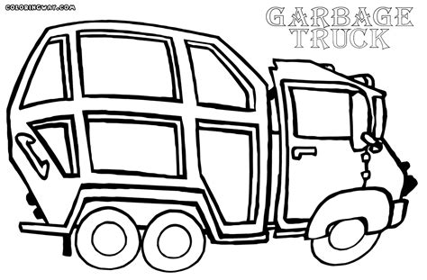 coloring page of trash truck garbage truck coloring pages coloring home
