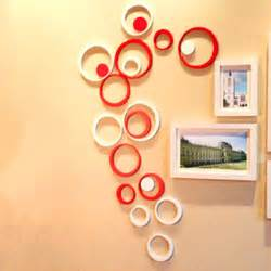Art Decoration Fashion Decor 5 Circles Ring Indoor 3d Wall Art Home