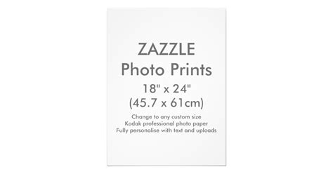 zazzle template zazzle custom 18 quot x 24 quot photo print template zazzle