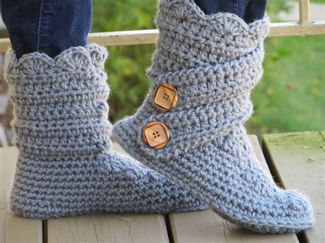 free crochet slipper patterns for adults crochet dreamz s slipper boots crochet pattern