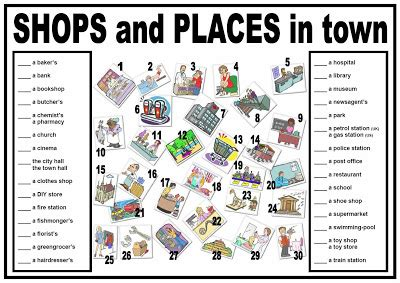 shops in my town worksheet free esl printable worksheets my esl world worksheet places in town география
