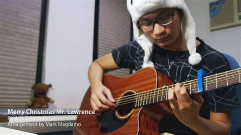 merry christmas  lawrence ryuichi sakamotoacoustic guitar cover youtube