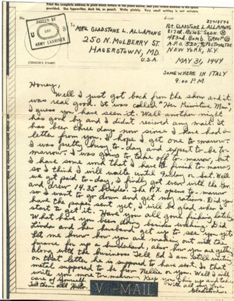 National Insurance Letter War 17 Best Images About Wwii Letters And V Mail On United States Army 1940s And