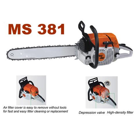 Gergaji Kayu New West stihl mesin potong pohon chain saw ms 381 25