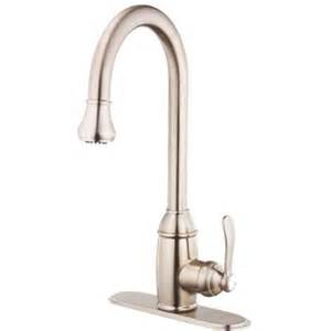 belle foret single handle pull down sprayer kitchen faucet in brushed nickel fp0a4022bnv the