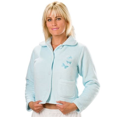 ladies bed jackets new ladies camille fleece mint buttons womens nightwear