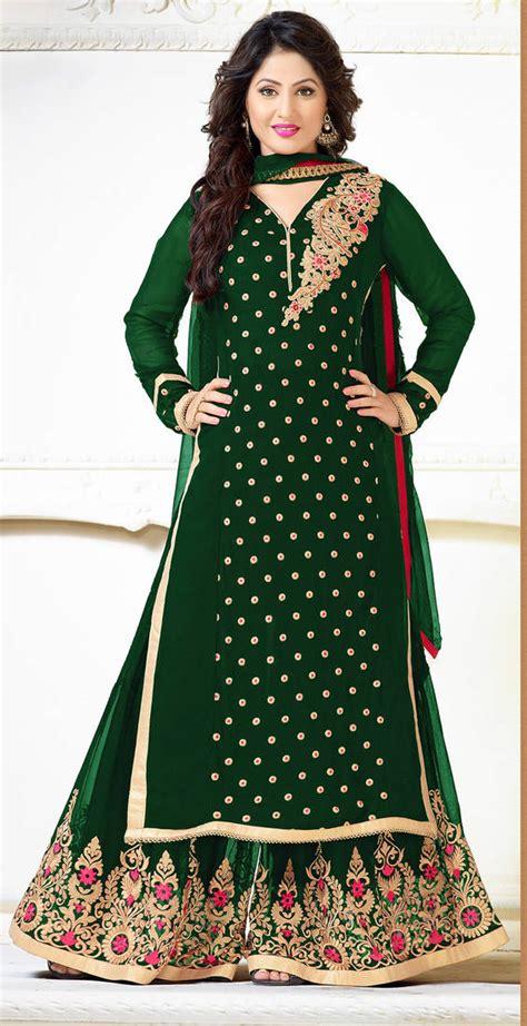 plazo disine buy designer green color plazo georgette salwar suit online