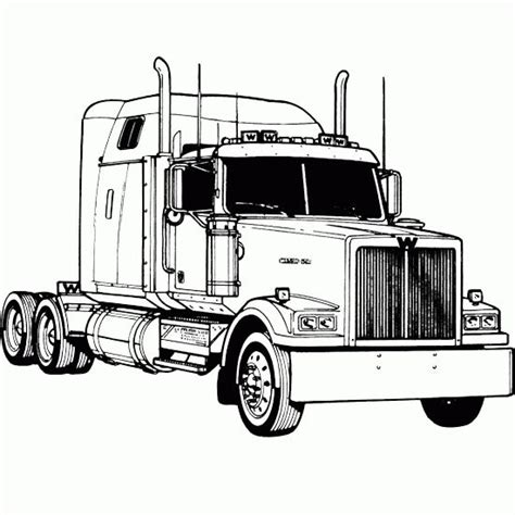 kenworth 18 wheeler for finest truck coloring pages kids pinterest semi trucks