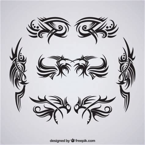 tattoo fonts pack fonts tribal and elements vector free