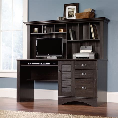 sauder computer desk with hutch harbor view computer desk with hutch 401634 sauder