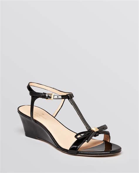 Sandal Wedges Wg12 Black 1 kate spade new york wedge sandals donna t in black lyst