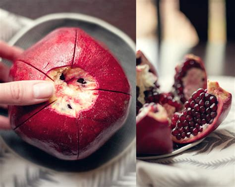 how to eat pomegranate