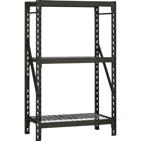 edsal industrial shelving edsal 3 shelf heavy duty steel welded rack 48in w x 18in