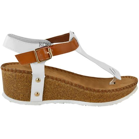 sandals s shoes new womens wedge comfort sandals cushioned flip