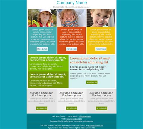 email newsletter layout 33 best email template designs for download purchase