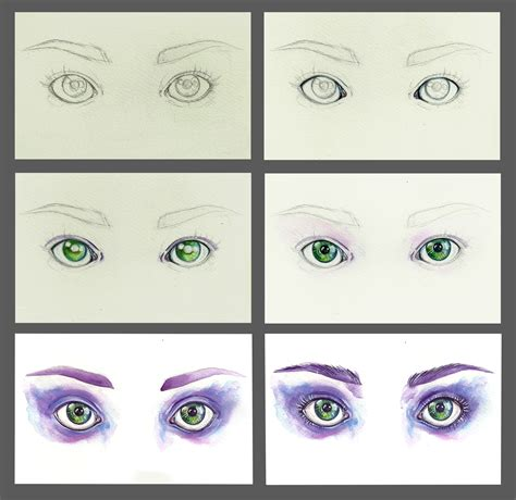 watercolor eyeshadow tutorial watercolor eyes step by step by euminee on deviantart