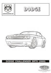 dodge challenger srt8 cars coloring pages cars