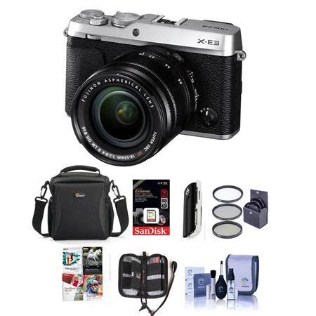 fujifilm x e3 mirrorless camera silver w/xf 18 55mm f/2.8