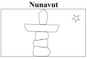 geography blog nunavut flag coloring page