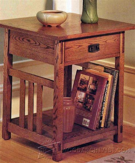 arts crafts  table plans woodarchivist