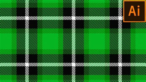 Adobe Illustrator Plaid Pattern | how to create plaid checkered fabric pattern in