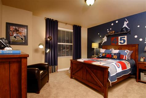 vintage sports themed boy s bedroom traditional navy blue curtains kids traditional with baseball beige
