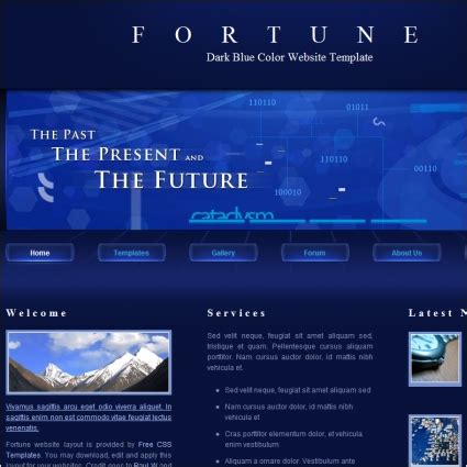 Fortune Free Website Templates In Css Html Js Format For Free Download 117 50kb Html And Css Templates With Source Code Free