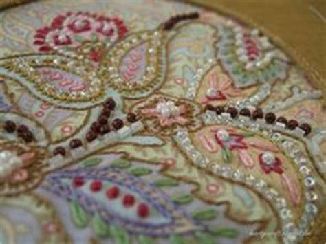 beadwork on fabric silk ribbon embroidery on silk ribbon