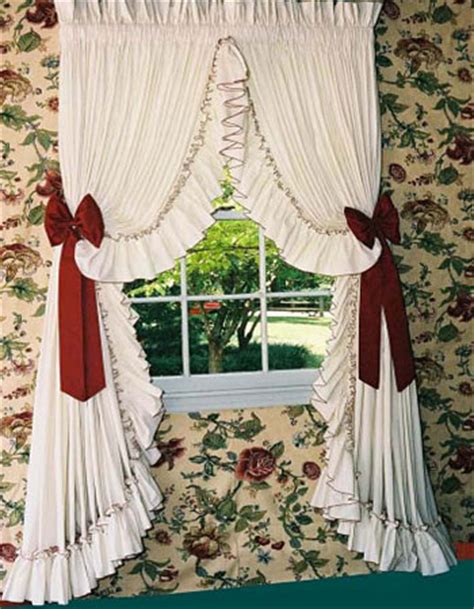 ruffled country style curtains carolina pearl edge country style curtains ruffled