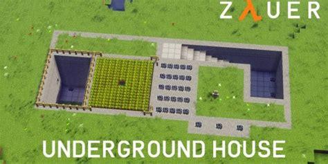 create a house modern underground house minecraft house design