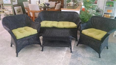 consignment patio furniture black wicker furniture set dooverz consignment store