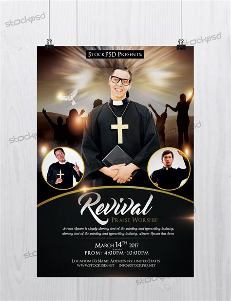 church revival flyer template free revival church pastor freebie psd flyer template