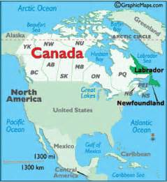 map of labrador canada newfoundland maps including outline and topographical maps